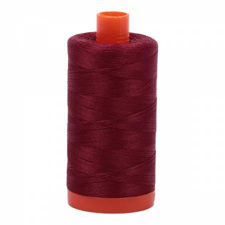 Aurifil Cotton Thread Solid 50wt 1422yds Dark Carmine Red 2460