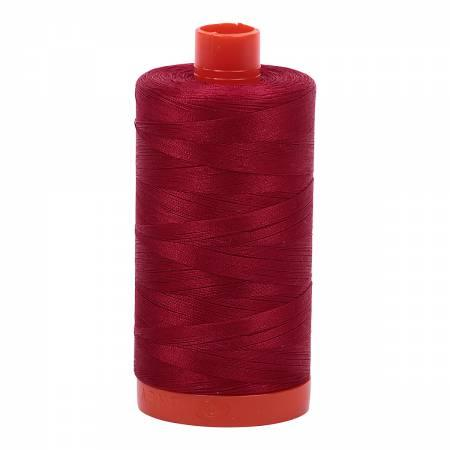 Aurifil Cotton Thread Solid 50wt 1422yds Red Wine 2260