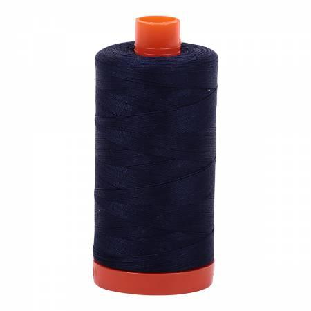 Aurifil Cotton Thread Solid 50wt 1422yds Very Dark Navy 2785