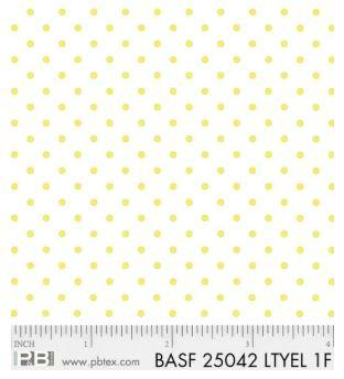 Basically Hugs Flannel Dots - Light Yellow