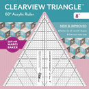 Clearview Triangle 8in Ruler