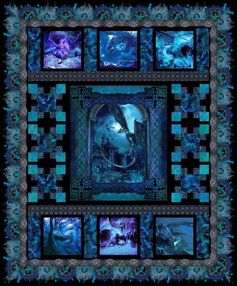 Dragon Quilt - Blue