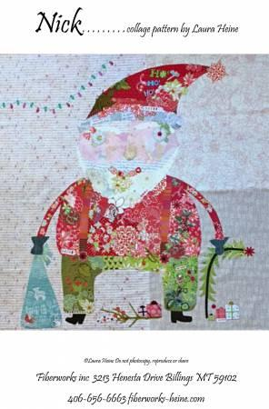 Nick Santa Collage Pattern.