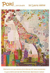 Poki Mini Giraffe Collage Pattern.