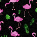 Flamingo Frenzy Black