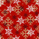 Flannel Gnomies - Snowflake Red Flannel