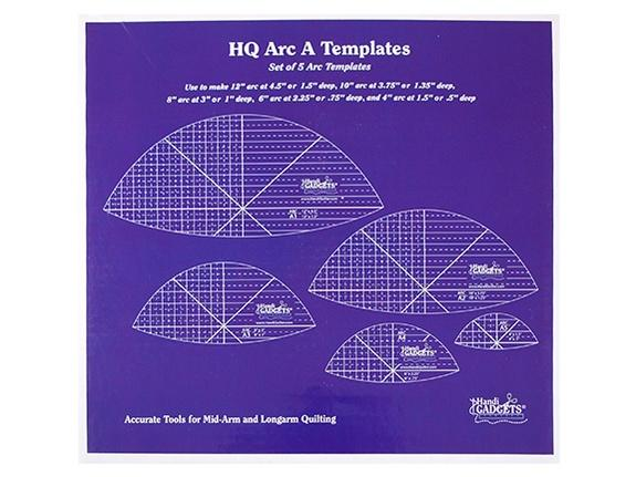 HQ Arc A Templates 12″, 10″, 8″, 6″, 4″ (set)