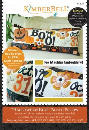 Kimberbell Halloween Boo Bench Pillow Embroidery