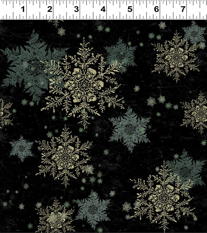Let Nature Sing Snowflakes Black