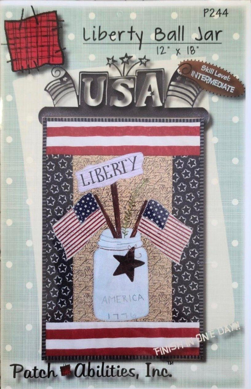 Liberty Ball Jar Pattern with USA Split Bottom Hanger