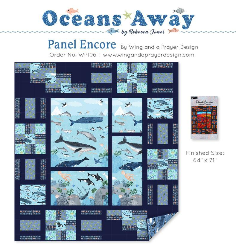 Oceans Away Panel Encore Quilt Kit