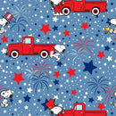 Peanuts Snoopy Patriotic w/Metallic