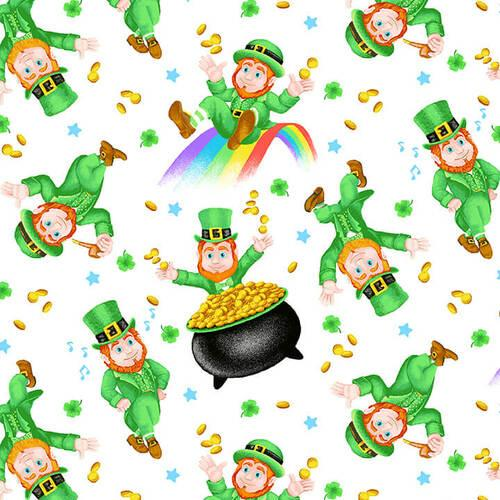 Pot Of Gold Tossed Leprechaun