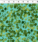 Radiance Lacey Leaves - Turquoise