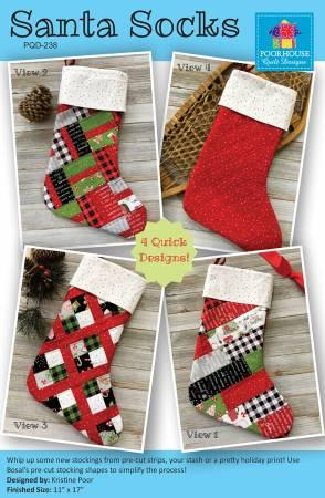 Santa Socks Pattern