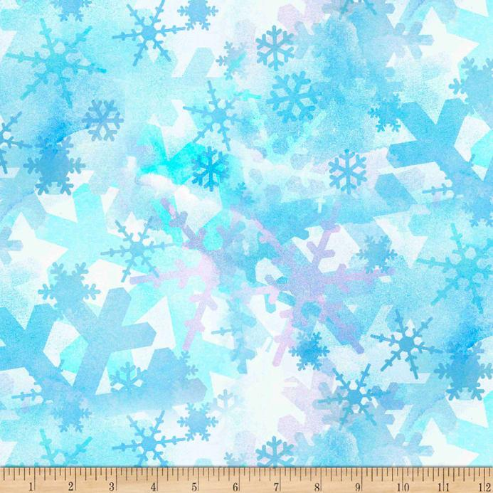 Springs Creative Christmas Blues Snowflakes