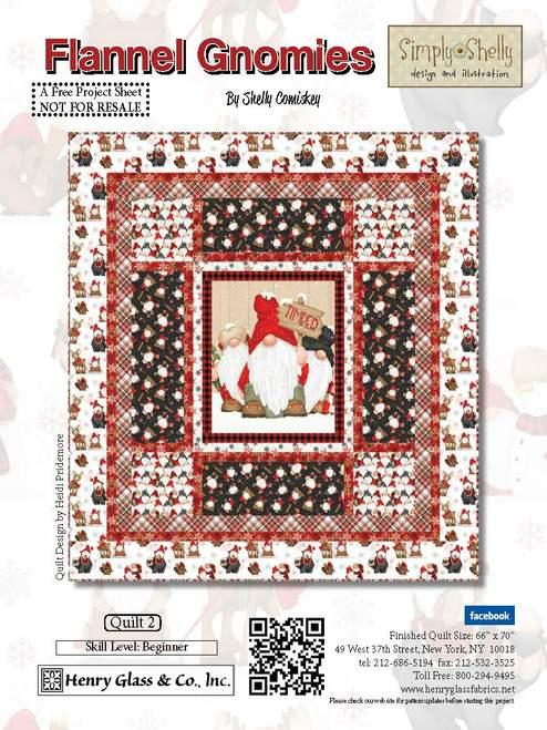 Flannel Gnomies Quilt 2  Kit