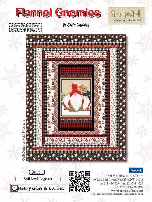 Flannel Gnomies Quilt 1 Kit