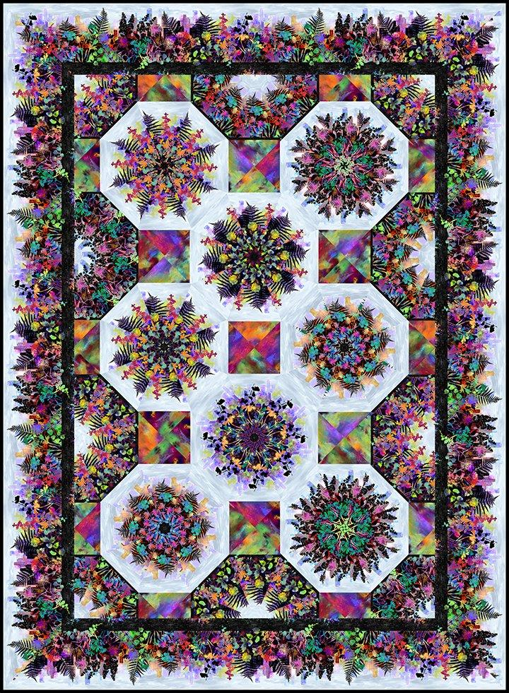 Urban Jungle Kaleidoscope Pattern