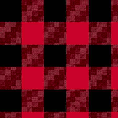 Wide Back - Red Buffalo Plaid