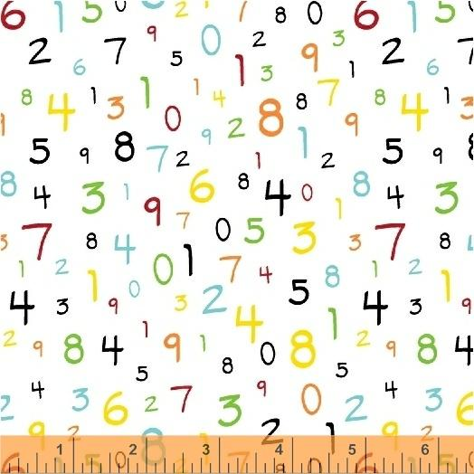 Windham Fabrics S.T.E.M-Numbers on White
