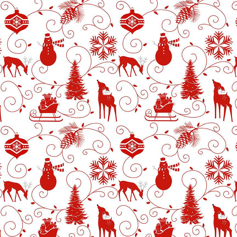 Winter Frost Graphic Motifs White