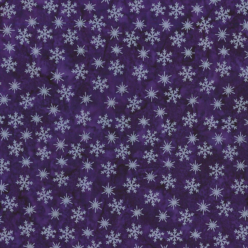 Winter Solstice - Little Snowflakes Purple