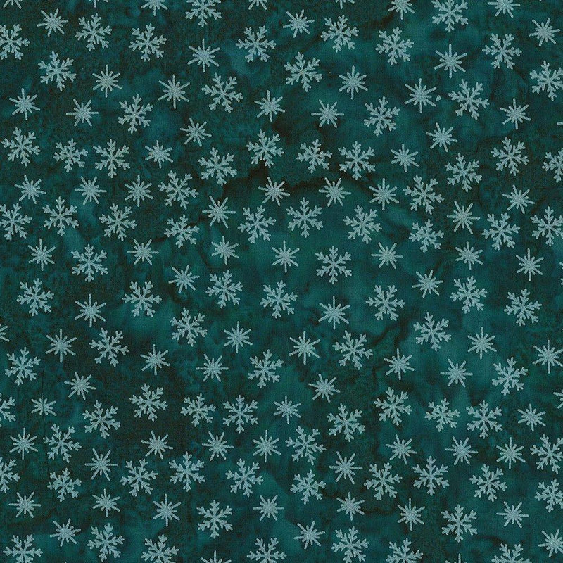 Winter Solstice - Little Snowflakes Teal