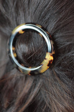 Load image into Gallery viewer, Dark Tortoiseshell Round Hair Clip - Pre-Order
