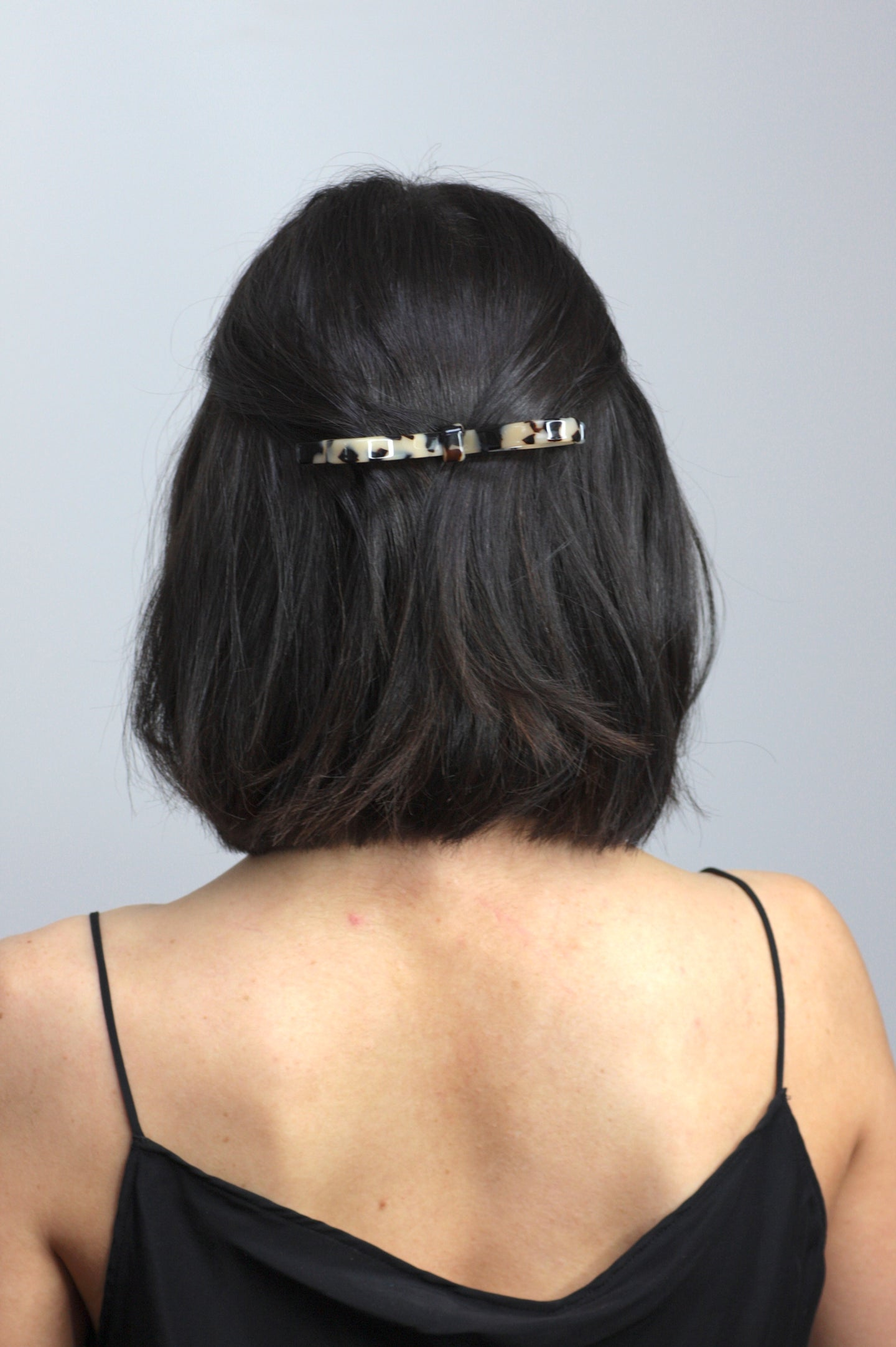 Light Tortoiseshell Bow Barrette