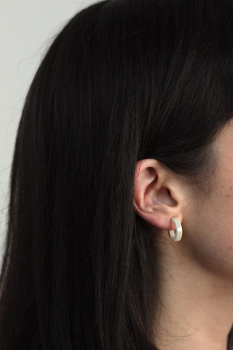 Sleeper White Marble Earrings