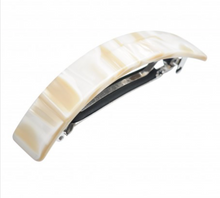 Load image into Gallery viewer, White Marble Hair Barrette