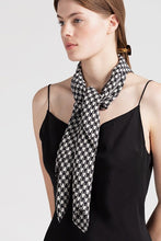 Load image into Gallery viewer, Houndstooth Silk Scarf