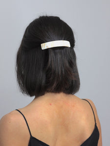 White Marble Hair Barrette