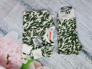 Olive Wiley Print Pants