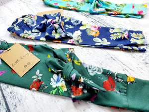 Child Blue Cactus and Tropical Paradise Head wraps