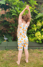 Load image into Gallery viewer, Oranges shortie dungarees