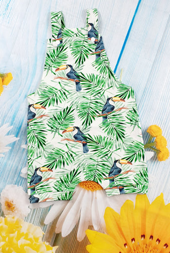 Shortie tropical overalls