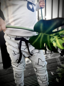 Fox Print Baggy Jogger for Kids- Vegan Organic Cotton