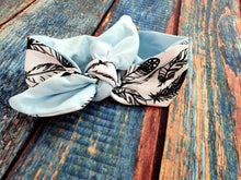 Load image into Gallery viewer, Monofeathers and Baby Blue Headband