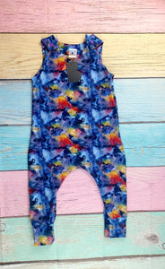 Watercolour Storm Long Romper