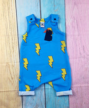 Load image into Gallery viewer, Lightning Bolt Shortie Romper