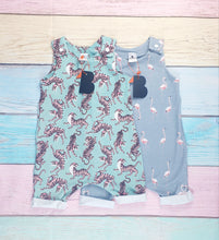 Load image into Gallery viewer, Flamingos Shortie Romper