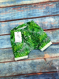 Tropical Leaves Rolled hem shorts