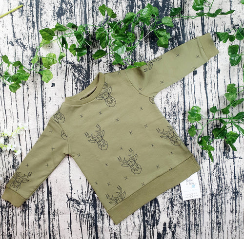 Olive stags Jumper
