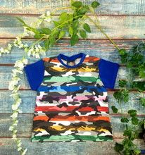 Load image into Gallery viewer, Rainbow Camo T Shirt Dress