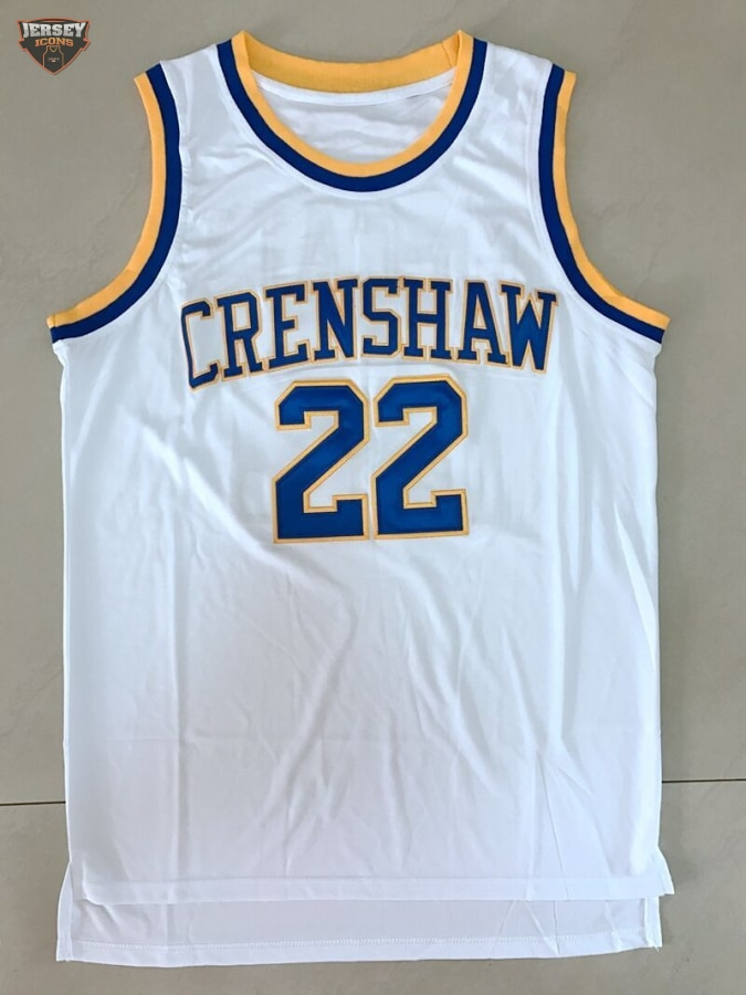 d01828857e4 Quincy McCall Crenshaw (Love & Basketball) Basketball Jersey (White) –  Jersey Icons
