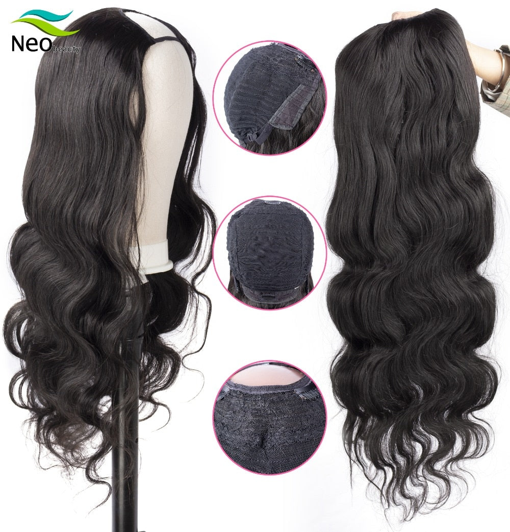 U Part - Brazilian Body Wave Virgin Hair Wig