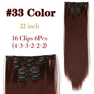 16 Clip In Hair Extension Long Straight Natural
