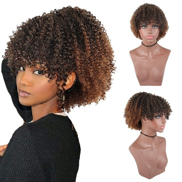 Alluring Curly Twist Ponytail With Bangs - Clip-in/Drawstring Hair Extension